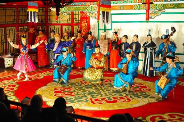 Mongolians Performing the Khurchirs